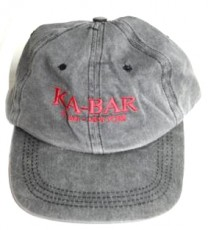 Ka-Bar hat, black washed red