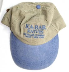 Ka-Bar hat, tan blue bill